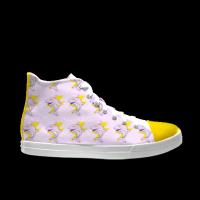 合作设计师林战士海豚系列自由涂鸦女款高帮鞋