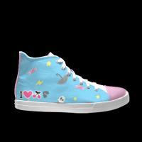 合作设计师林战士可爱系列自由涂鸦女款高帮鞋