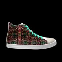 合作设计师MoraBaby斑斓系列自由涂鸦女款高帮鞋