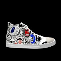 合作设计师啊弟音乐系列自由涂鸦男款高帮鞋