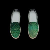 灿烂星空个性内增高限量玻璃时尚 随性涂鸦懒人鞋 女 低帮