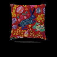 秘密花园中国风系列棉麻抱枕50*50CM