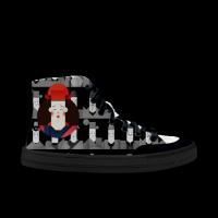 戏丑暗黑涂鸦鞋